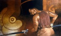 "Alex Bostic ""Steel Worker"" Oil"