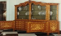 Dutch mahogany and marquetry cabinet lemongrass